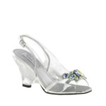 Touch Ups Womens Candy Clear Vinyl Sandals Prom and Evening Shoes