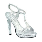 Touch Ups Womens Darcy Silver Metalllic Platforms Prom and Evening Shoes