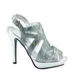 Touch Ups Womens Rita Silver Metalllic Platforms Prom and Evening Shoes