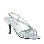 Touch Ups Womens Lyric Silver Metalllic Sandals Prom and Evening Shoes