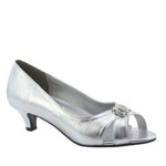 Touch Ups Womens Dot Silver Synthetic Sandals Prom and Evening Shoes