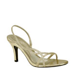 Touch Ups Womens Randi Gold Glitter Sandals Prom and Evening Shoes