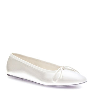 Touch Ups Womens Ballet White Satin Ballet Wedding Shoes