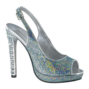 Touch Ups Womens Cupid Silver Synthetic Sandals Prom and Evening Shoes