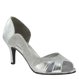 Touch Ups Womens Charlie Silver Metalllic Sandals Prom and Evening Shoes