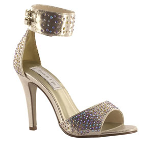 Touch Ups Womens Jupiter Champagne Metalllic Platforms Prom and Evening Shoes