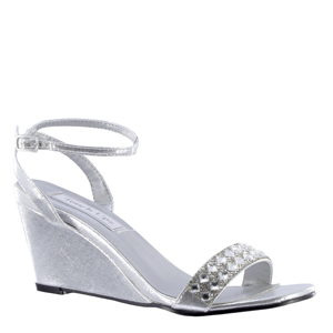 Touch Ups Womens Carter Silver Synthetic Sandals Prom and Evening Shoes