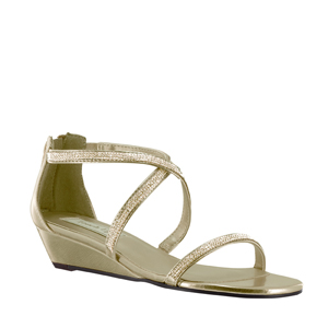 Touch Ups Womens Moriah Gold Synthetic Sandals Prom and Evening Shoes