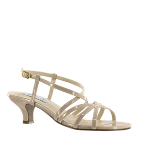 Touch Ups Womens Eileen Nude patent Synthetic Sandals Prom and Evening Shoes