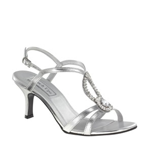 Touch Ups Womens Mindy Silver Satin Sandals Wedding Shoes