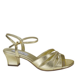 Touch Ups Womens Monaco Gold Satin Sandals Prom and Evening Shoes
