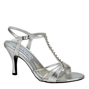 Touch Ups Womens Anneka Silver Synthetic Sandals Prom and Evening Shoes