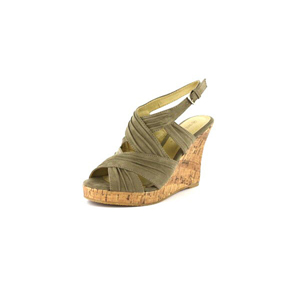 Wild Diva Womens MIRNA-114 TaupeV.Suede Jersey Wedge Casual Shoes